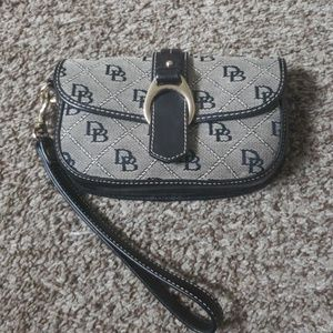D and B Signature Monogram Canvas Flap Black Wrist